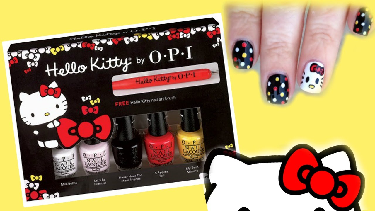 Hello Kitty Nail Art Tutorial Opi Hello Kitty Friend Pack Review