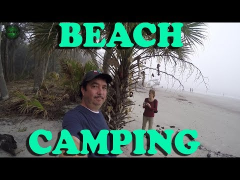 Beach Camping With RV Holiday Getaway Hunting Island State Park