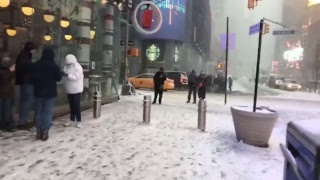 Snowstorm ☃️ Walking to Times Square NYC