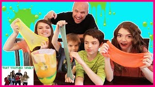 Mixing All Our Slimes!  Slime Smoothie! / That YouTub3 Family