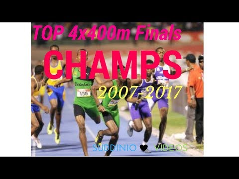 Hot Hot 4x400m High school Jamaican athletes go stride for stride