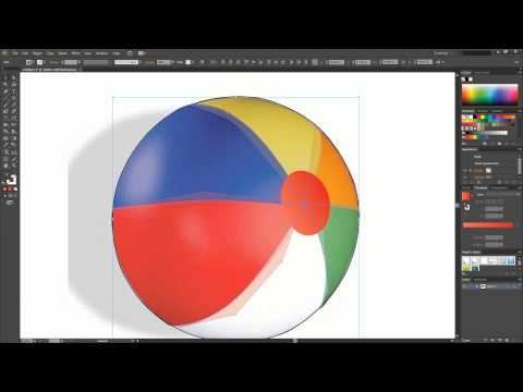 Creating a Vectorized Beach Volleyball | Adobe Illustrator Tutorial thumbnail