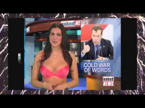Телеведущая разделась в прямом эфире3 . Naked News.  Откровенное видео от Слайдшоу Анималс