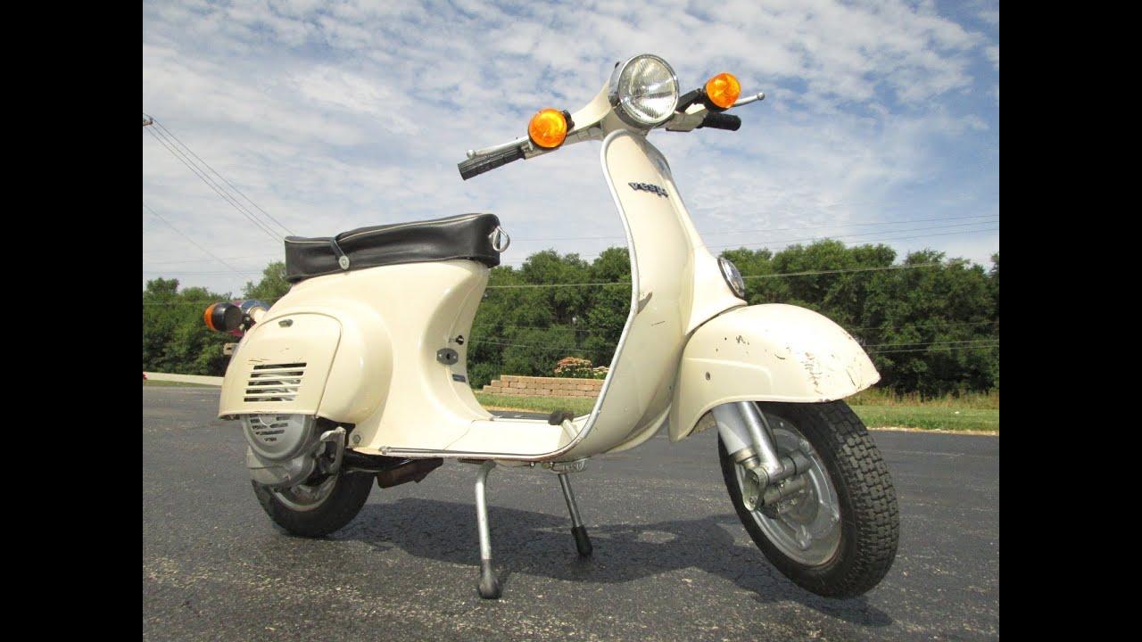 1981 piaggio vespa 100 sport italian scooter youtube for Vespa com italia