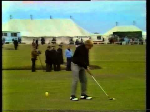 Jack Nicklaus drives 360+ yards at the 18th  St Andrews Playoff 1970