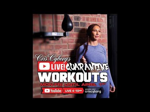 #AloneTogether Home fitness workout Cris Cyborg Quarantine Bootcamp Bellator, UFC, Champion