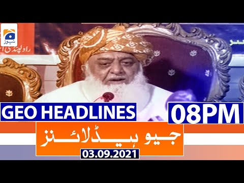 Geo Headlines 08 PM   3rd September 2021