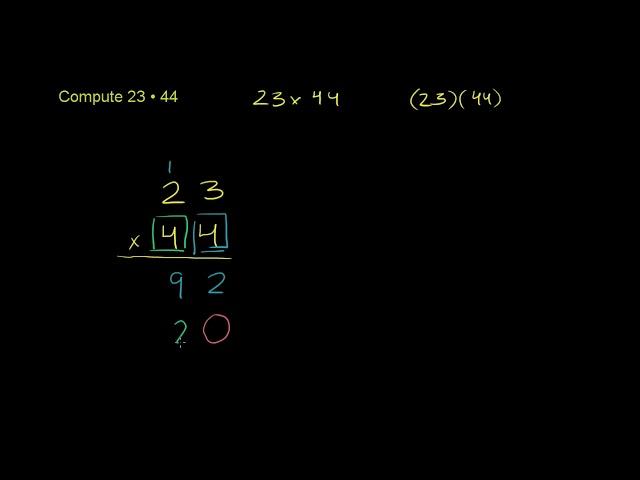 ตัวอย่าง: 2 หลักคูณ 2 หลัก | Example: 2-digit times 2-digit