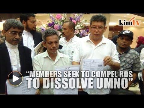 Sixteen Umno members seek to compel ROS to dissolve Umno