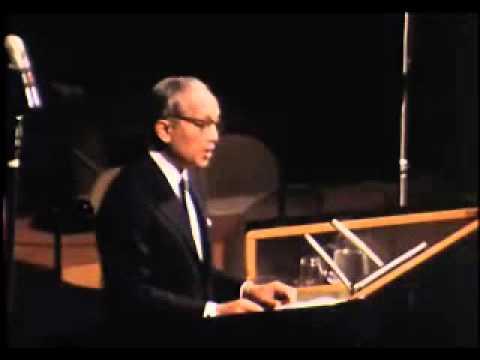 Dag Hammarskjöld memorial ceremony at the UN (1971)