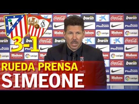 ATLÉTICO MADRID 3-1 SEVILLA   Rueda Prensa de Simeone   Diario AS