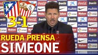 ATLÉTICO MADRID 3-1 SEVILLA | Rueda Prensa de Simeone | Diario AS