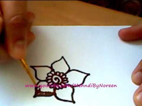 How To Draw A Henna Flower Part 2 Youtube