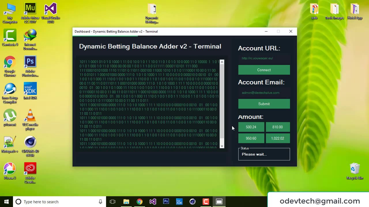 Dynamic Betting Balance Adder v2 by DevTech Plus+