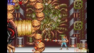 Contra Advance: the alien wars EX - all bosses