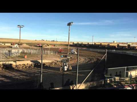 El Paso County Raceway - Sprint Car Heat Race October 10, 2015.