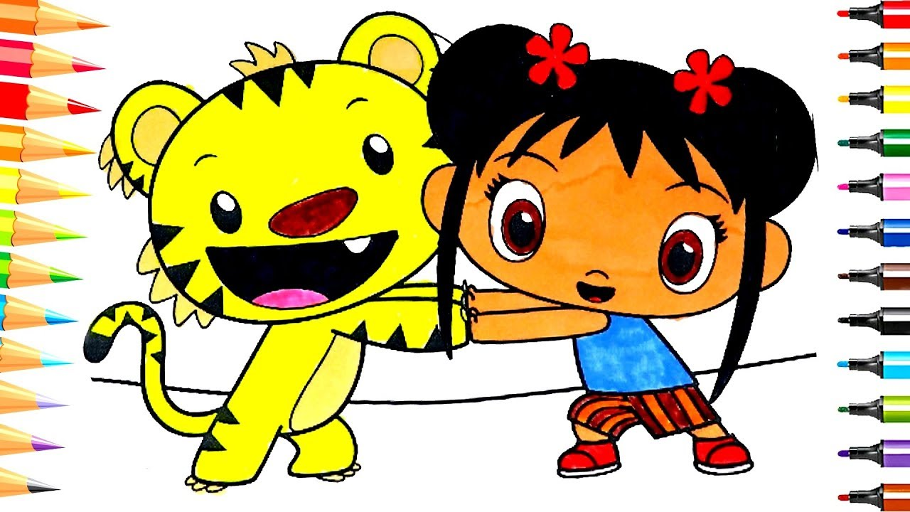 - Ni Hao Kai Lan And Rintoo Fun Coloring Pages For Kids - YouTube