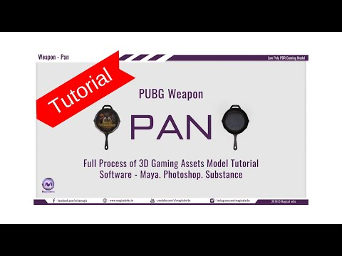 Pubg Pan 3D Model in Maya 2018-Full Step Tutorial | Low-High Poly,Normal Baked,PBR Texture Substance thumbnail