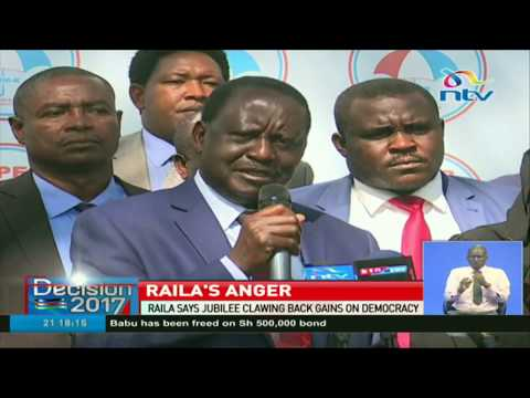 Nasa leader Raila Odinga calls for mass action against Jubilee government