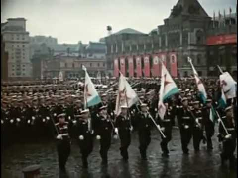 Red Army 1945 Moscow Victory Parade  English Narration