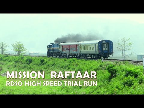 RDSO High Speed Train | Mission Raftaar Trial Run | Tremendous acceleration of EMD WDP4D