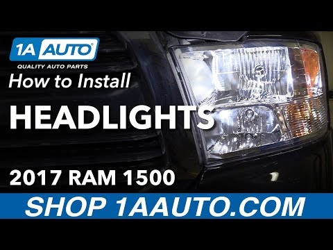 How to Replace Headlights 11-17 Ram 1500