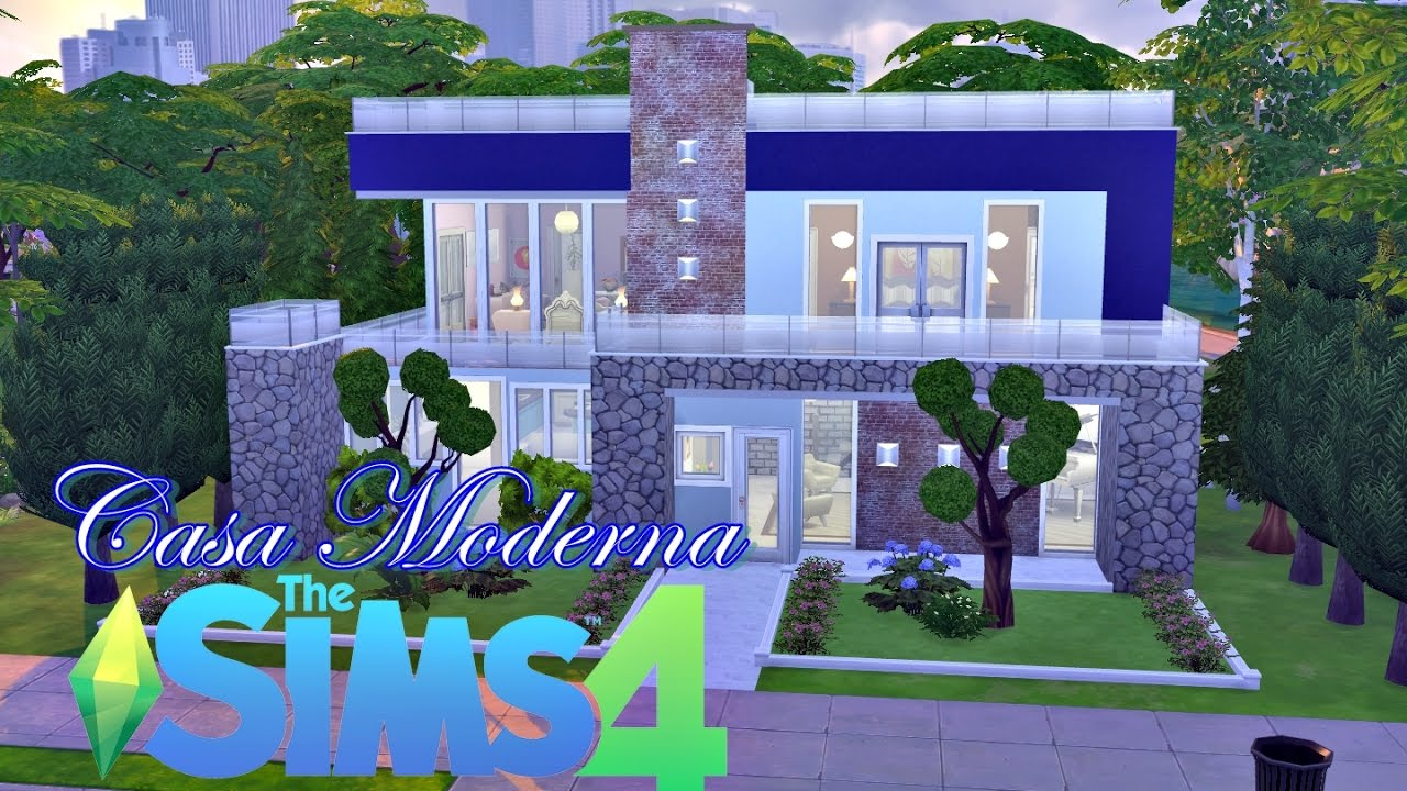 Casa moderna modern house the sims 4 speed build for Casas modernas sims 4 paso a paso