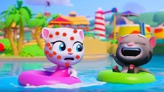 ТОМ АКВАПАРК #10 Бассейн говорящего Тома и ДРУЗЬЯ Затерянный город Tom Pool Игровой мультик