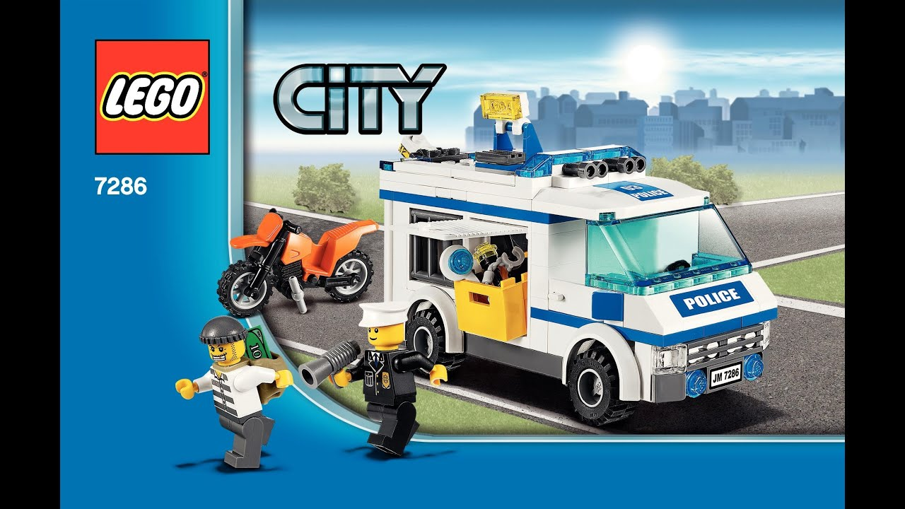 7286 Lego Prisoner Transport Instruction Booklet Youtube