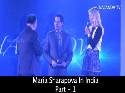 Maria Sharapova says it took her  25 years to come to India... Homested Party