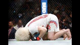 """حبيب نور محمدوف  يفوز على خصمه الأمريكي في بطولة """"UFC"""""""