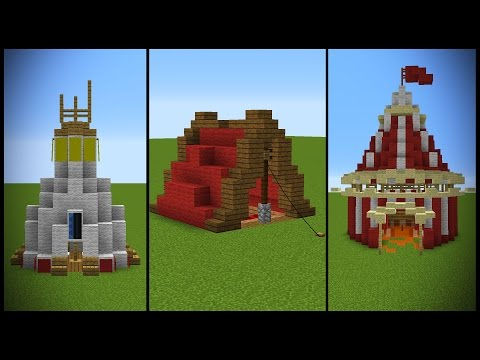 18 Minecraft Tent (or similar) Designs!