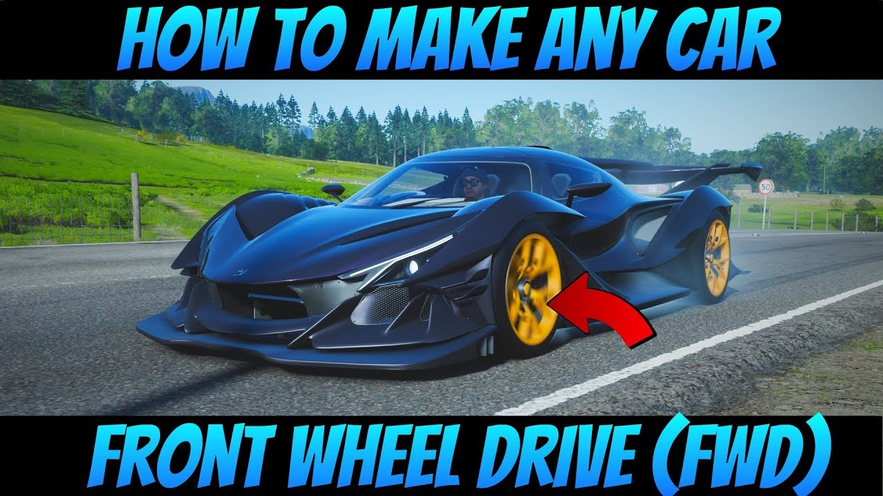 Forza Horizon 4 | How To Make Any Car Front Wheel Drive (FWD)!