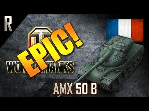 ► World of Tanks - Epic Games: AMX 50 B [6 kills, 11359 dmg]