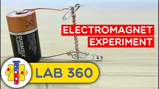How to Make an Electromagnet | Amazing Science Experiments | Lab 360