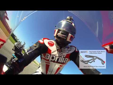 Misano Adriatico - Onboard with Alex Hofmann on the RSV4 for Sport 1 @ Moto GP !