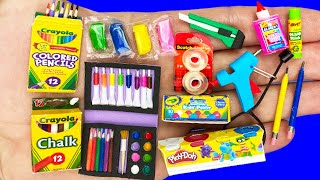 26 DIY MINIATURE SCHOOL SUPPLIES COLLECTION REALISTIC HACKS AND CRAFTS FOR BARBIE DOLLHOUSE !!!