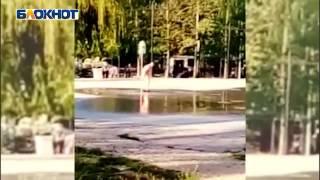 Жительница Новороссийска обнаженная искупалась в фонтане