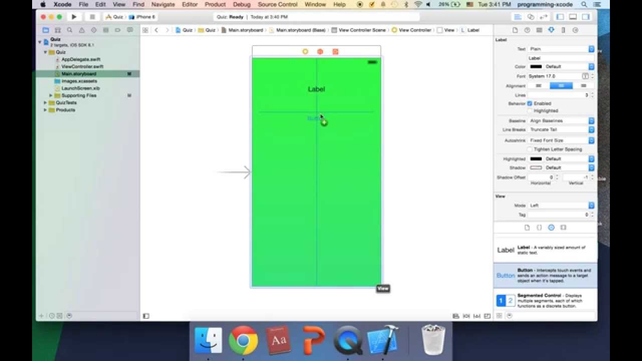 Firebase tutorial for ios ep 4 building the user interface.