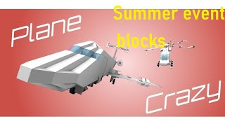 (NEW!) Roblox Plane Crazy Summer Event item location!!!