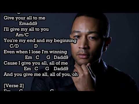 All Of Me John Legend Chordlyric