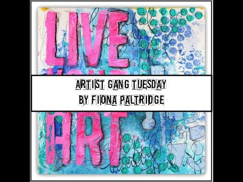 An Art Journal Page for Donna Downey Artist Gang