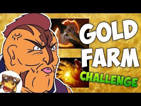 видео: gold farm challenge - ДОТА 2