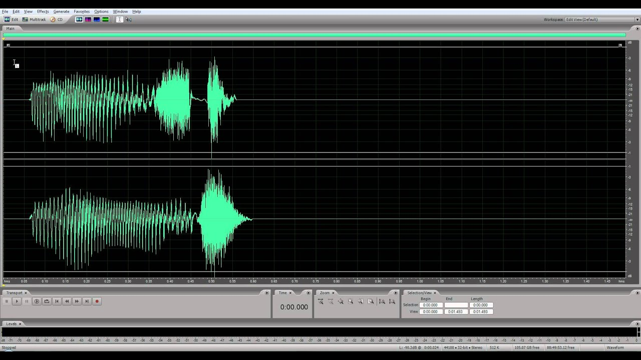 Adobe Audition CS5 5 Left / Right Channel Select