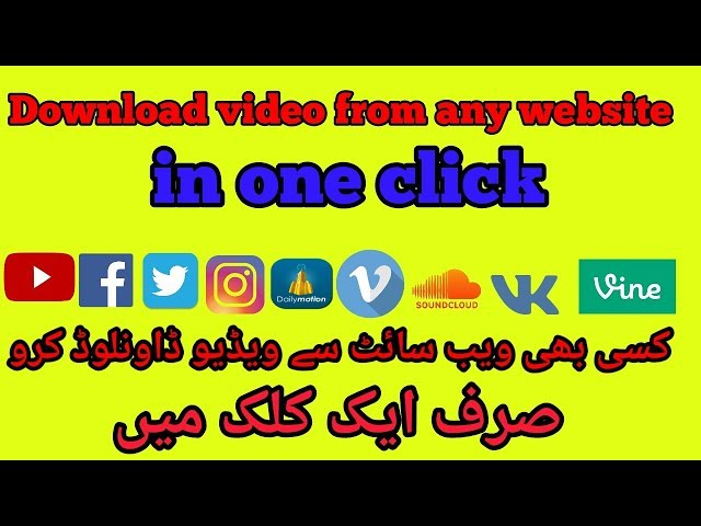 Download video from any site just in one clic | download video in any format
