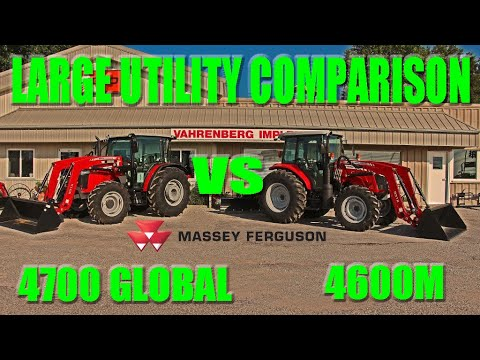 Massey Ferguson Utility Tractor Comparison 4600M vs 4700 Global