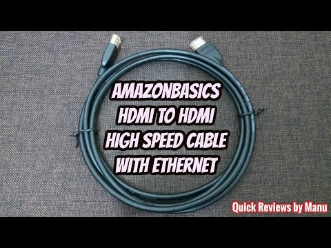 AmazonBasics High Speed HDMI Cable with Ethernet review