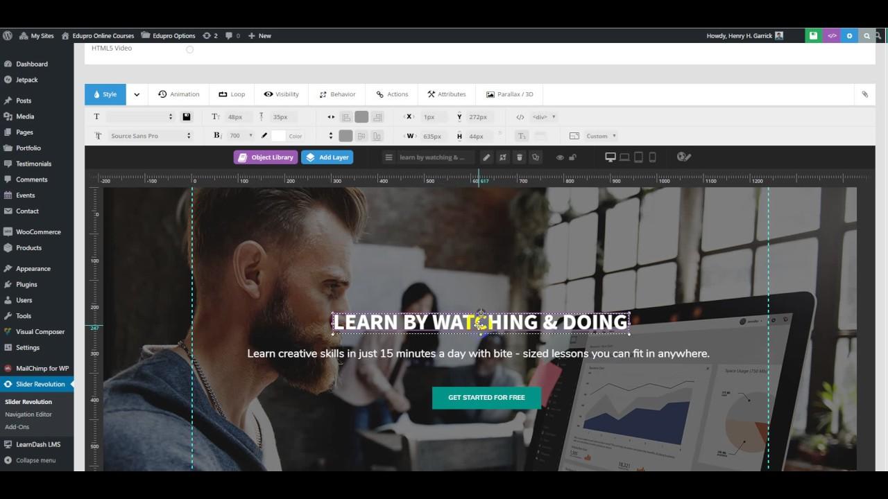 EduPro WordPress Theme] - Change text on slider - YouTube