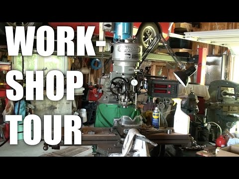 Part1: A tour of my Dad's Metal working workshop (garage)