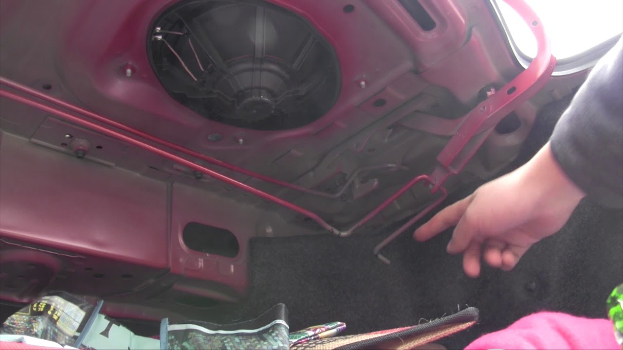 Replace trunk lid torsion bar (trunk spring) on Toyota